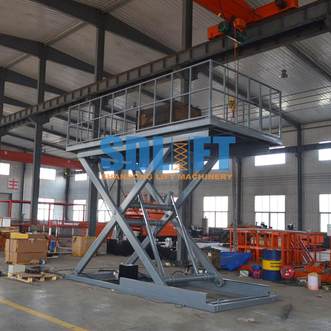 3 Ton 5M Hydraulic Scissor Car Lift Underground Car Parking Lift With CE