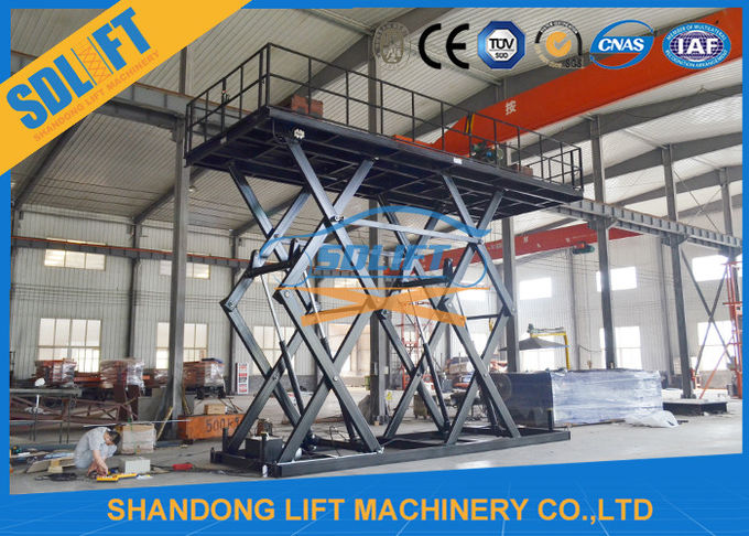 8T Double Scissors Hydraulic Cargo Lift Heavy Duty Large Lifting Platform with CE